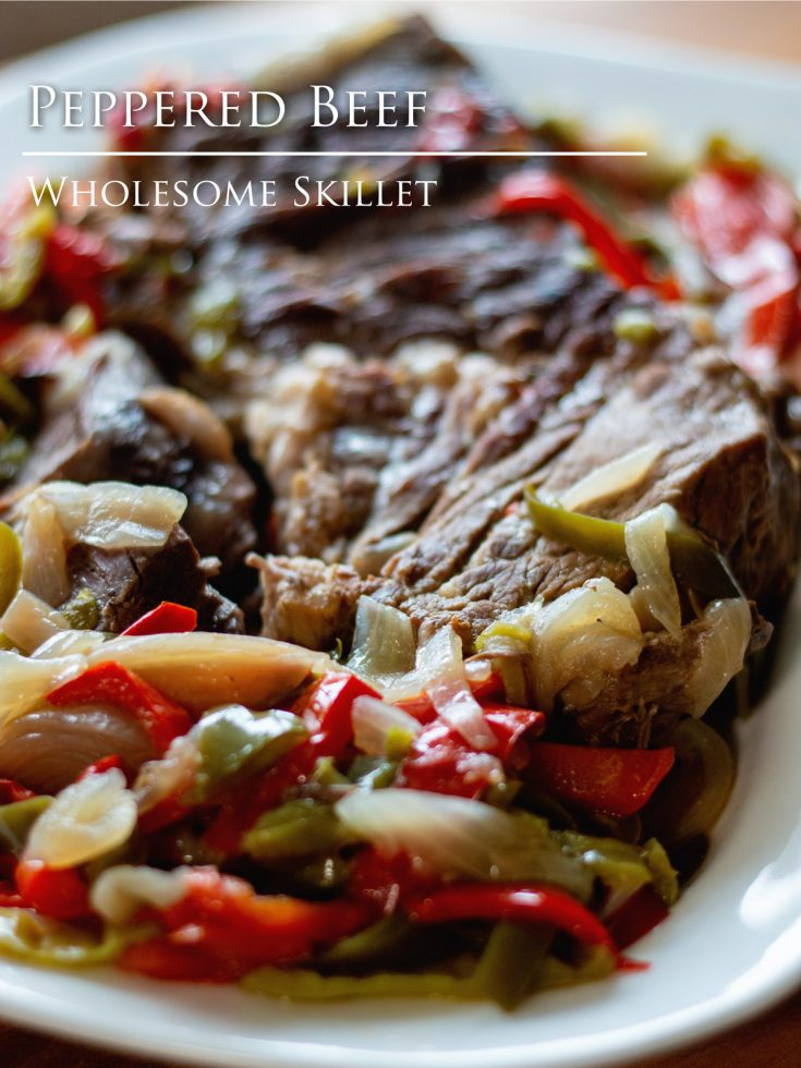 Tender roast beef, smothered in peppers and onion - made in your Instant Pot or other electric pressure cooker.