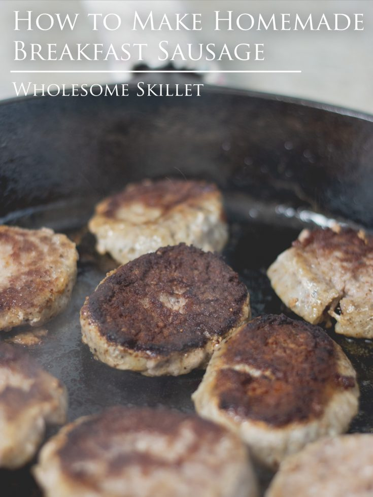 Homemade Breakfast Sausage - Learning to make your own breakfast sausage is easy. And once you do, the potential for variations is endless.