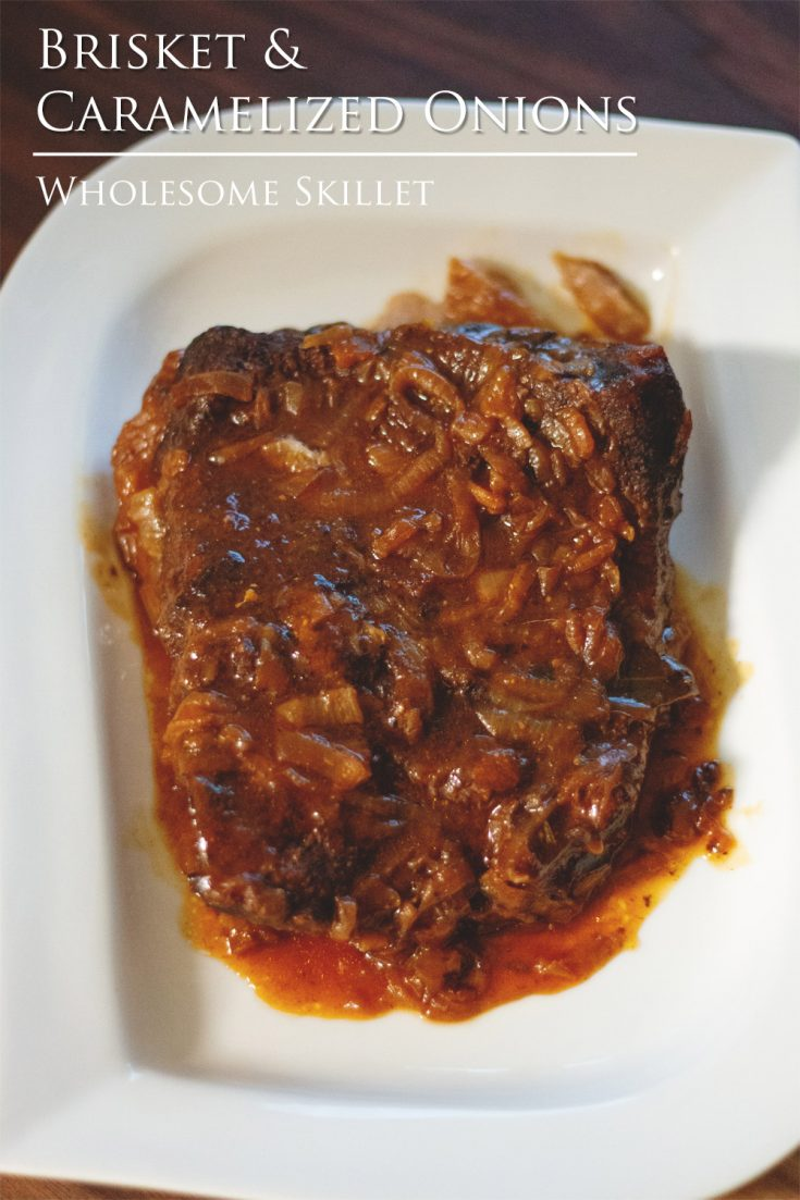 Tender beef brisket in a rich, caramelized onion sauce.