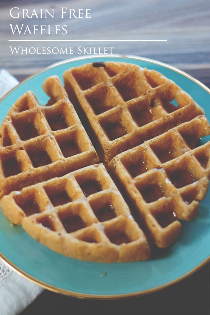 Grain-Free Waffles - Crispy waffles that are the perfect way to get your day started. #paleo #waffles #glutenfree