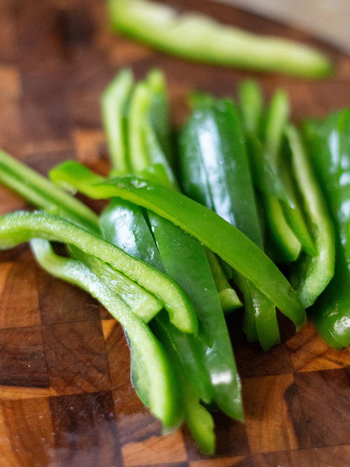 green bell pepper strips