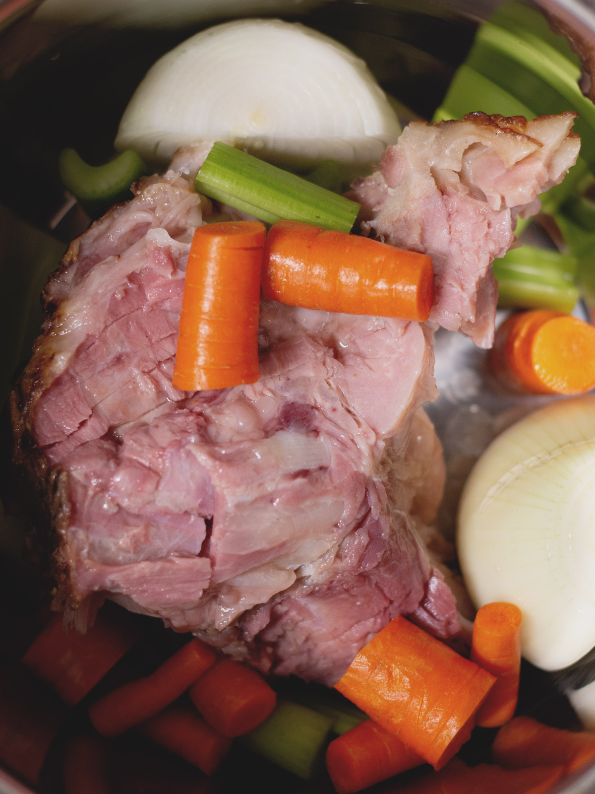 ham bone and veggies in the instant pot