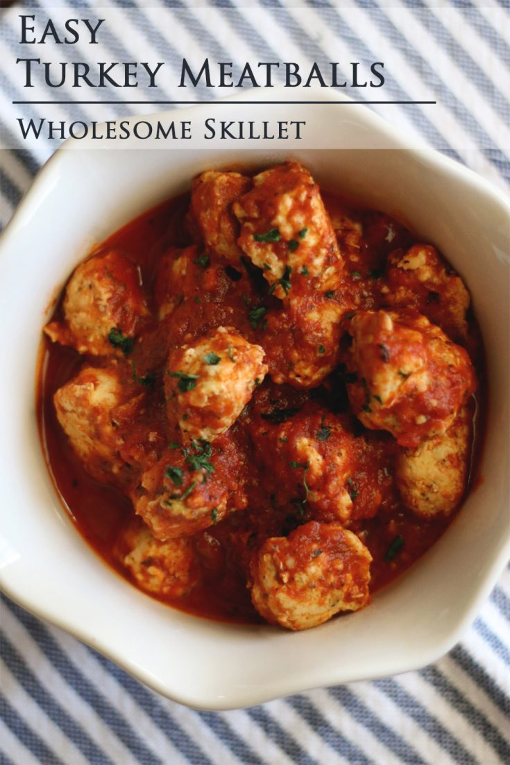 These paleo turkey meatballs are moist, tender, and full of flavor. They're the perfect addition to a dish of zoodles and marinara or your favorite vegetable soup.