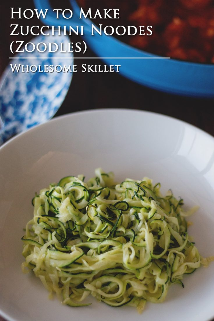 """Also known as """"zoodles"""" these zucchini noodles are a great way to get some more vegetables in your diet."""
