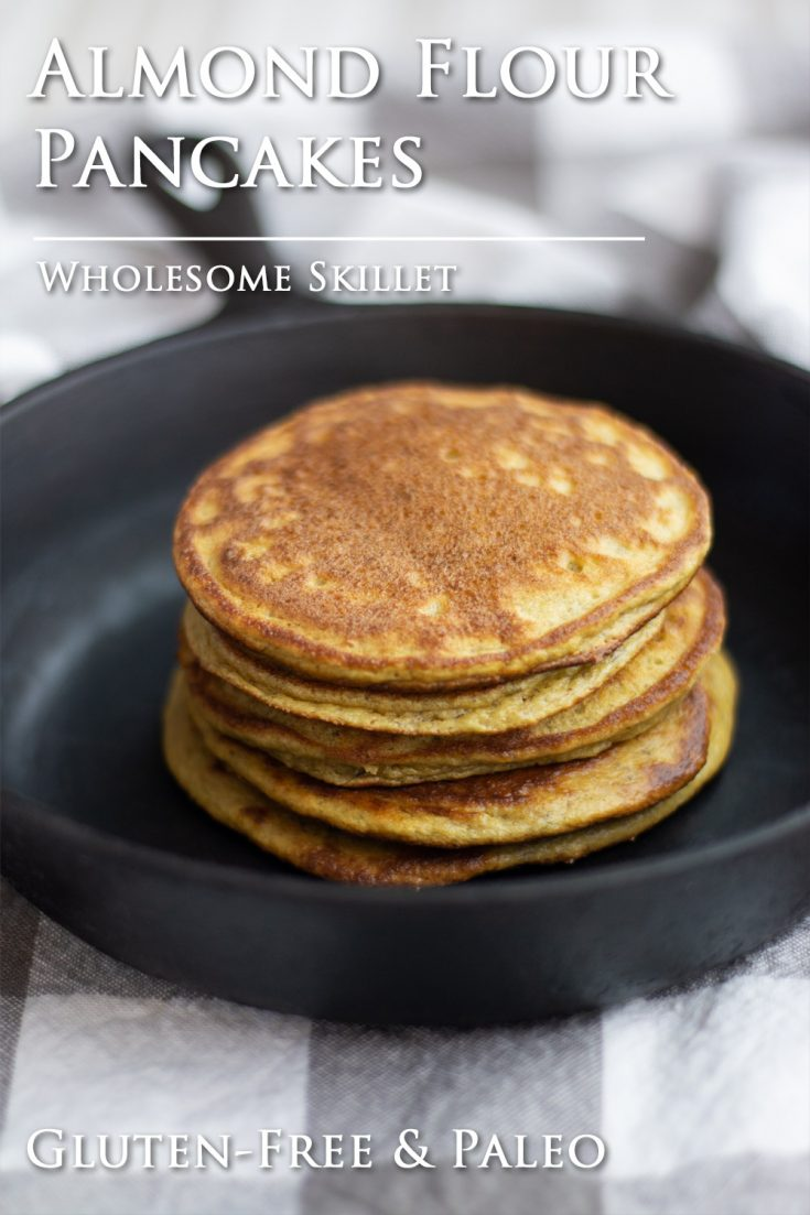 Wonderfully delicious and fluffy Almond Flour Pancakes are paleo and gluten-free.