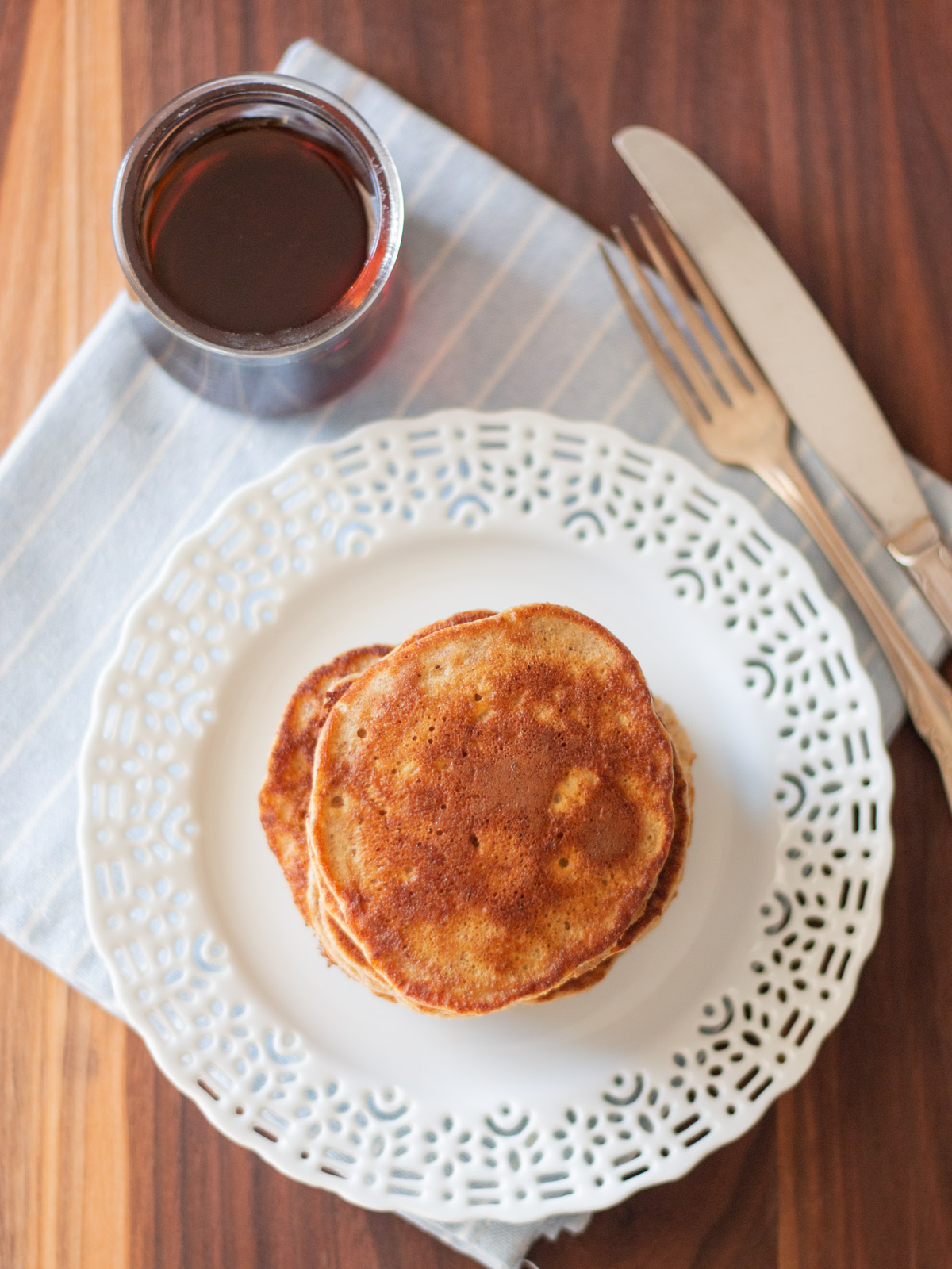 Easy Apple Banana Pancakes - These tasty pancakes are a great way to start any morning. | Wholesome Skillet