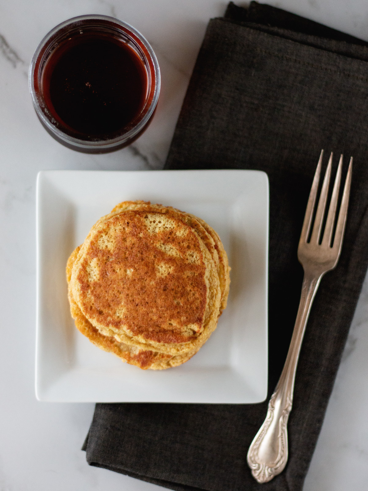 Banana Bread Pancakes from Wholesome Skillet