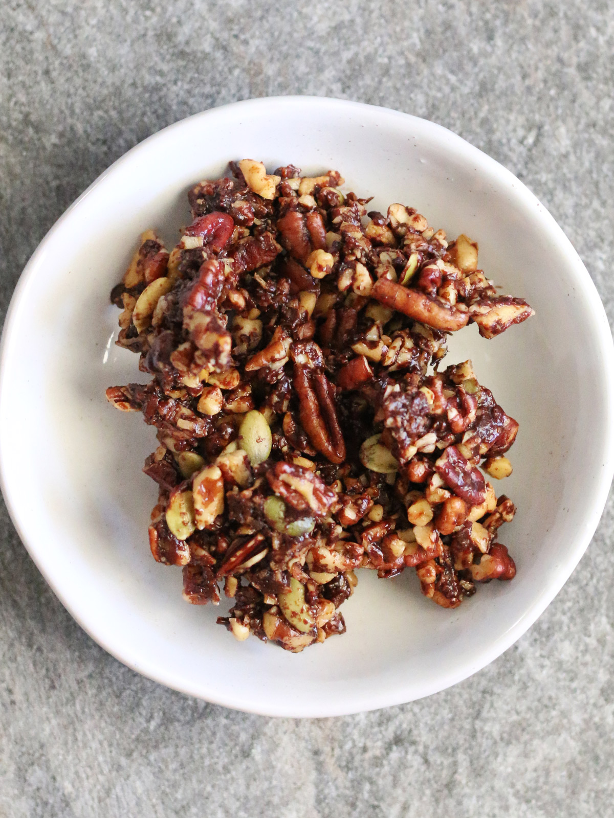 Grain-Free Chocolate Granola is a healthy and delicious snack. Get the recipe from Wholesome Skillet.