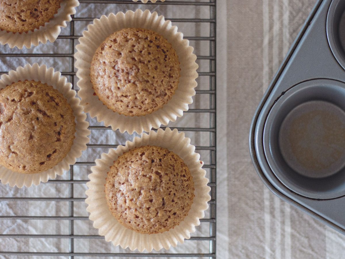 muffins on a cooling rack