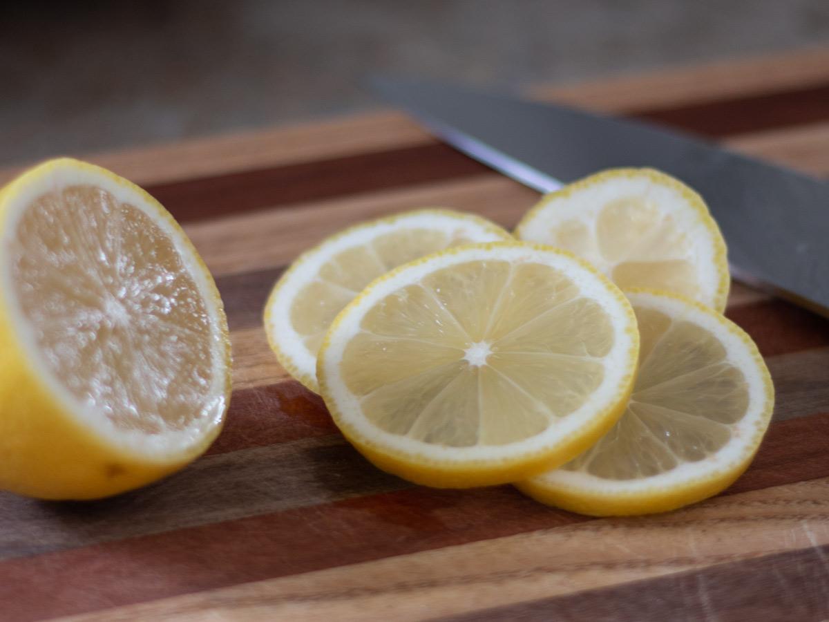 lemons on a cutting board