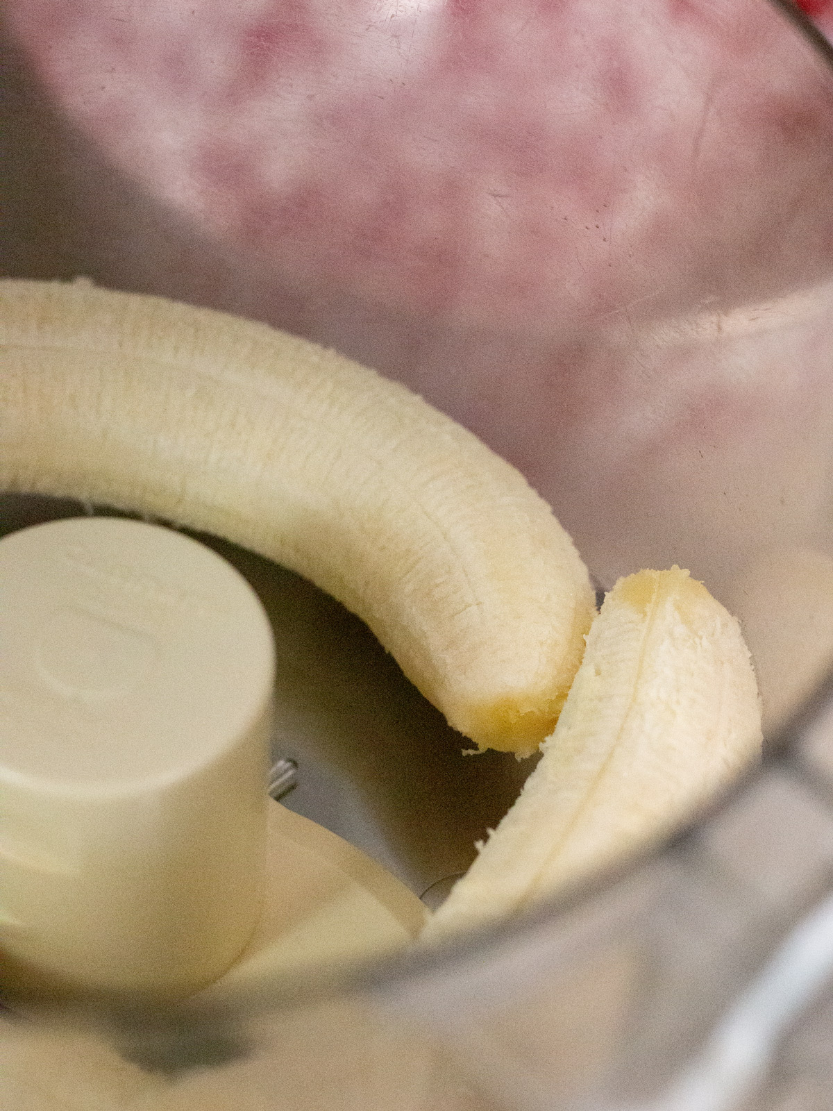 bananas in food processor