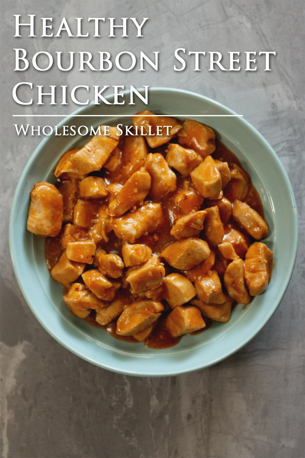 A delicious and healthy version of Bourbon Street Chicken that is ready in about 30 minutes. A great meal for a busy night.