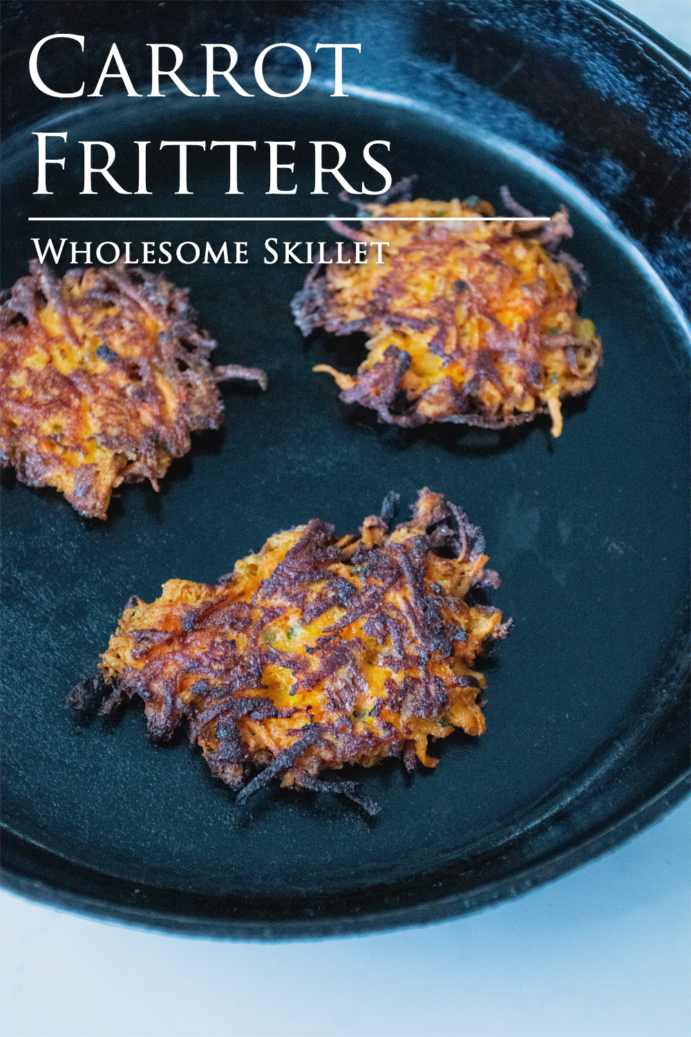 Savory Carrot Fritters | Wholesome Skillet