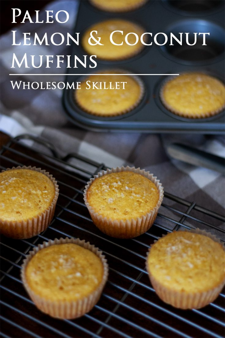 Lovely lemon coconut muffins with a fresh and light flavor, made with almond and coconut flour.