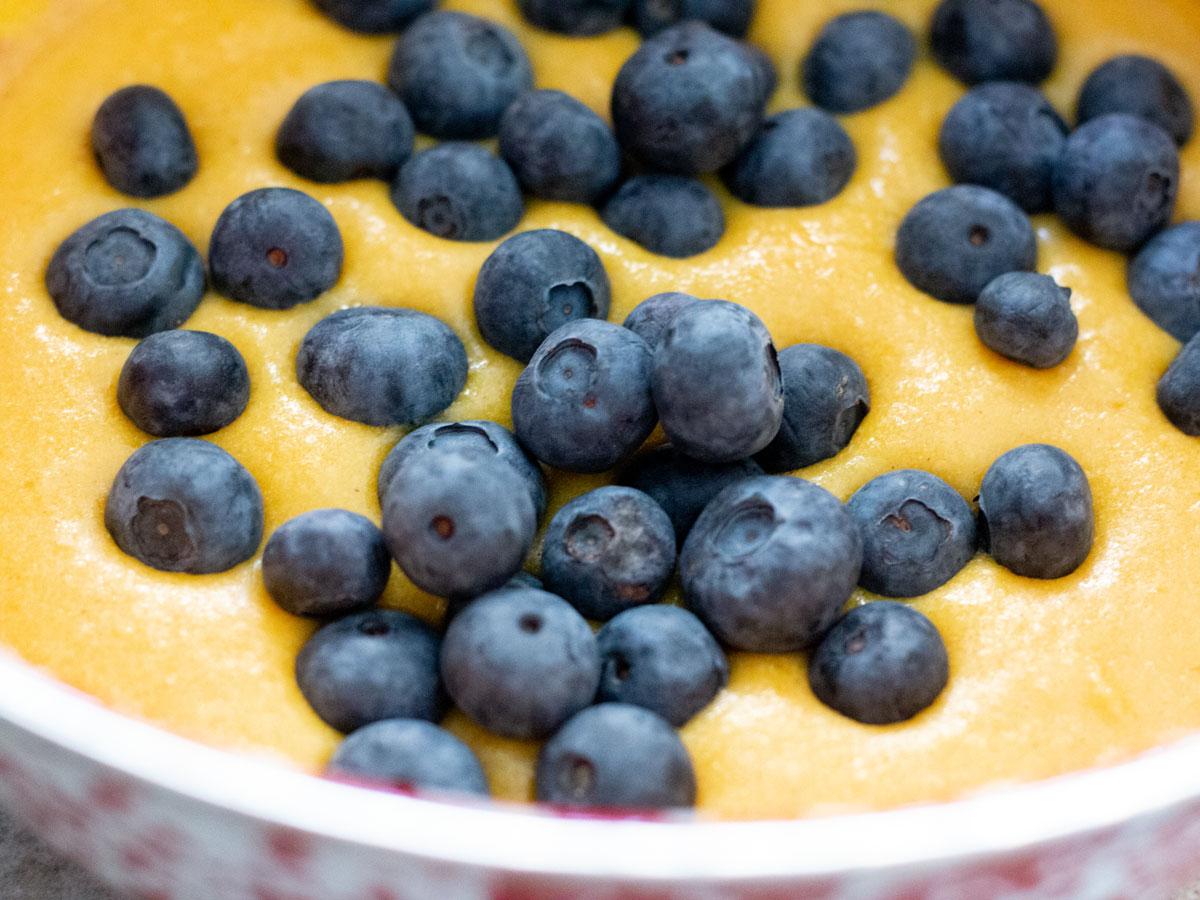 blueberries in batter