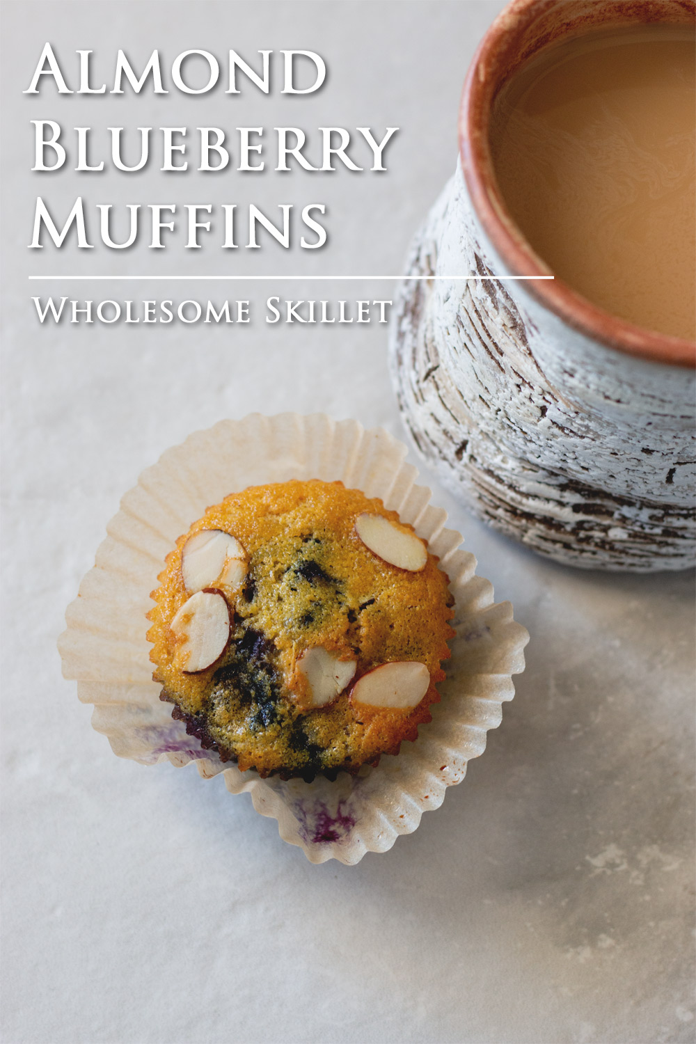 Almond Blueberry Muffins | Wholesome Skillet