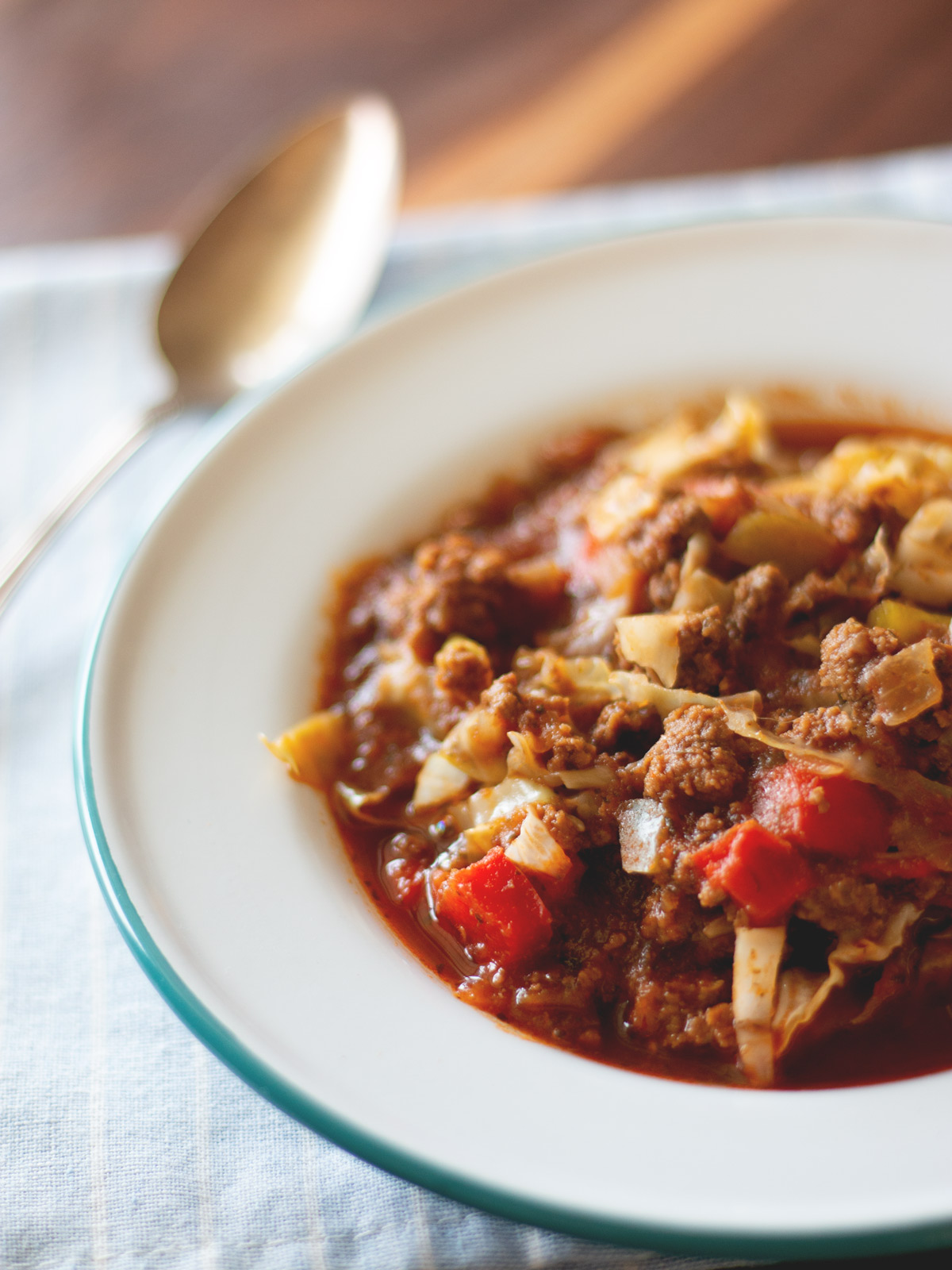 Easy Cabbage Roll Soup - All of the flavor of cabbage rolls, but no leaf folding needed! Recipe from Wholesome Skillet