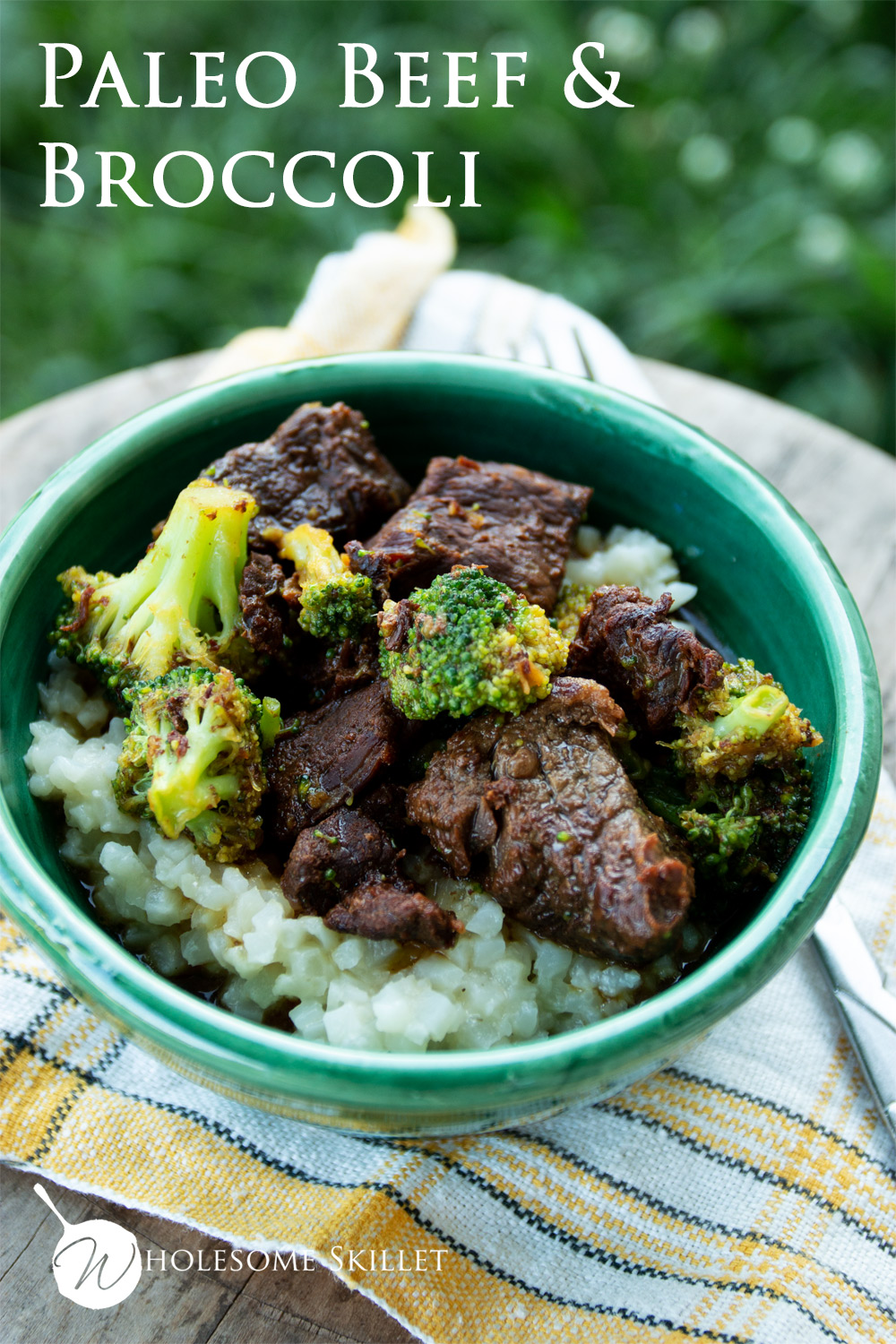 Delicious Beef and Broccoli that is paleo and gluten-free | Get the recipe from Wholesome Skillet
