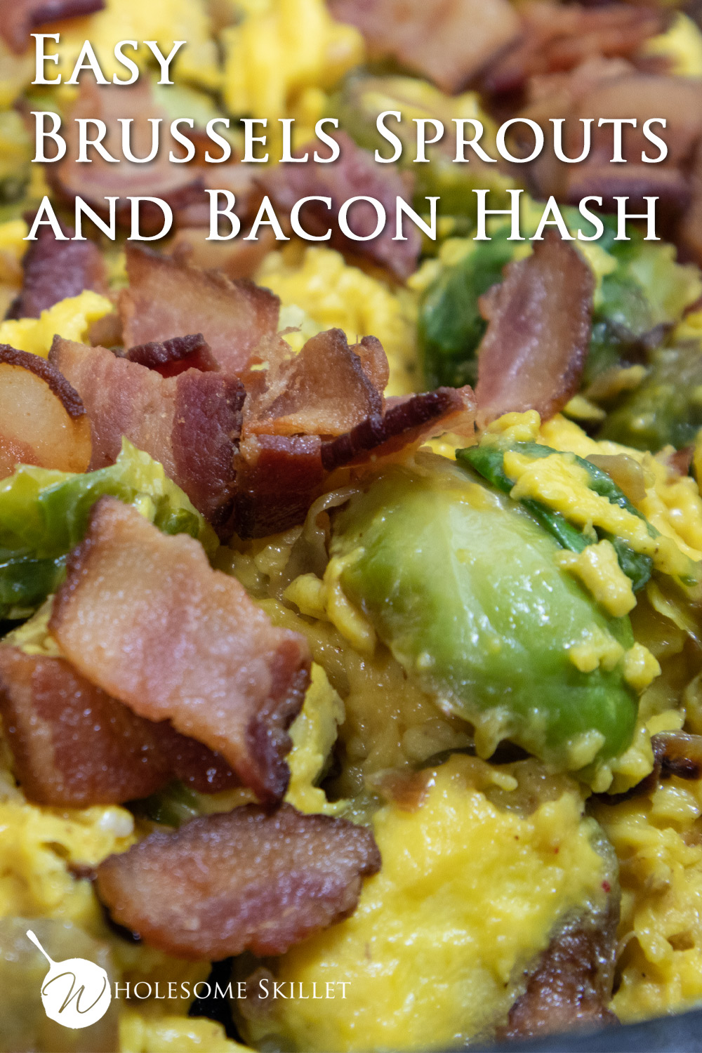 This simple Brussels sprouts and bacon dish is packed with flavor and perfect for an easy supper, or weekend brunch.
